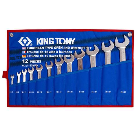KINGTONY (1112MRN) Набор рожковых ключей, 6-32 мм, 12 предметов