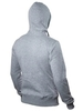 "Light grey insulated hoodie ""Phantom"" with a zipper"