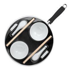 Сковорода вок 30см и набор для азиатской кухни Ibili Moka