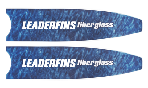 Лопасти Leaderfins Fiber Glass синий камуфляж