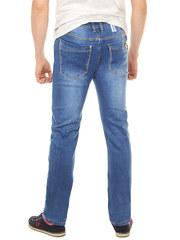 A8025 джинсы мужские, синие