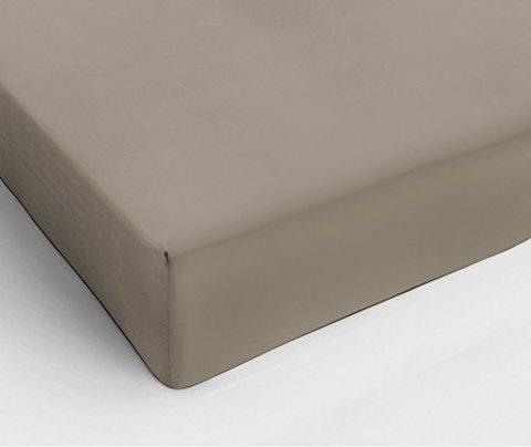 Простыня на резинке 90x200 Сaleffi Raso Tinta Unito сатин серо-коричневая