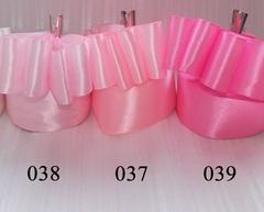 Лента атласная шириной 2,5см розовая - 037