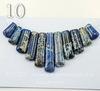 Комплект из 11 подвесок Яшма Императорская (прессов.,тониров) цвет - синий (Комплект №10)
