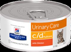 Ветеринарный корм для кошек Hill`s Prescription Diet c/d  здоровье нижних мочевыводящих путей, с курицей