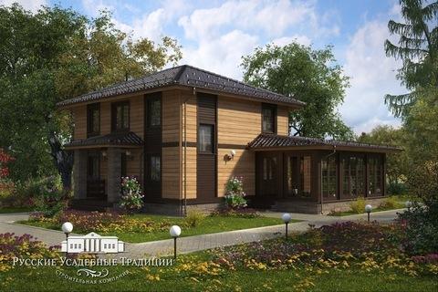 """Двухэтажный дом """"Марсель"""" 154 кв.м. из СИП панелей с зимним садом"""