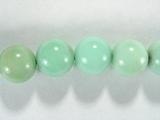 Бусина из хризопраза светло-зеленого, шар гладкий 10мм