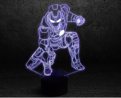 3D светильник Железный человек 2 — 3D light Iron man