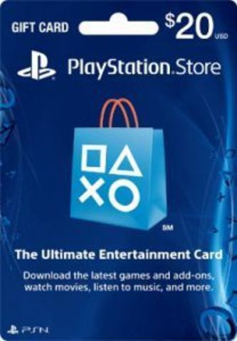 Карта оплаты PlayStation Network Card USA 20$ (код)