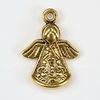 "Подвеска ""Ангел"" (цвет - античное золото) 22х16,5 мм"