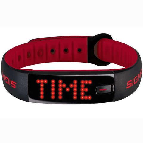 Купить Фитнес-браслет Sigma Sport Activo 22910 (Black-Red) по доступной цене