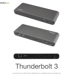 Расширитель портов StarTech Порт репликатор StarTech Thunderbolt 3 Dual 4K Docking Station (Mac и Windows)
