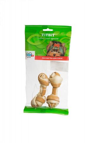 Titbit кость узловая №2 (2шт) с мясом курицы - мягкая упаковка