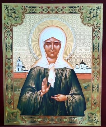 Плакат икона Матрона Московская
