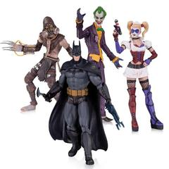 Набор фигурок Харли Квинн, Бэтмен, Джокер, Пугало - Лечебница Аркхем, DC Collectibles