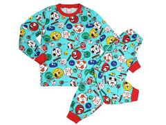 BK580K-1 пижама детская, бирюзовая