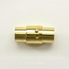 Замок для шнура 6 мм магнитный из 2х частей, 17х8 мм (цвет - золото)