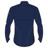 Мужская беговая рубашка асикс Lite-Show LS Zip (124756 8052) темно-синяя