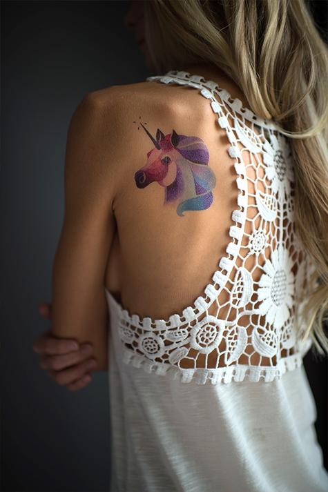 Переводная татуировка Unicorn