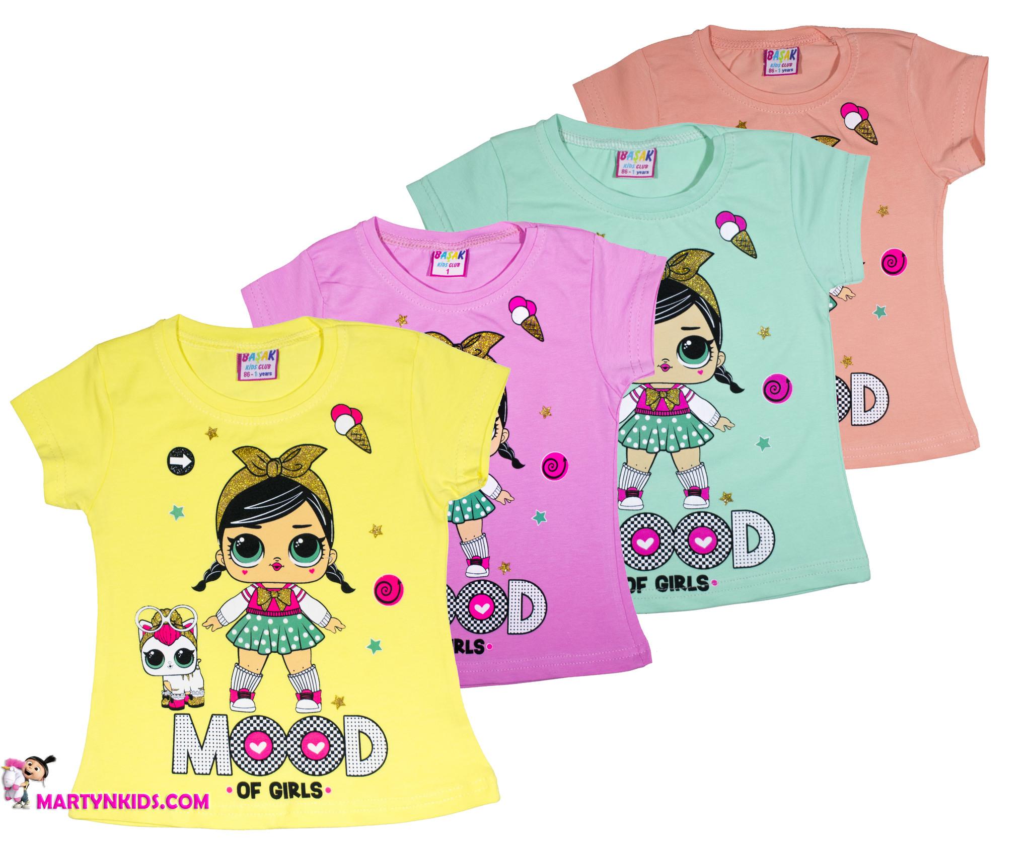 1216 футболка девочка с кисой
