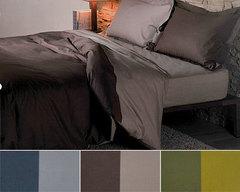 Постельное белье 2 спальное евро Caleffi Bicolor коричневое
