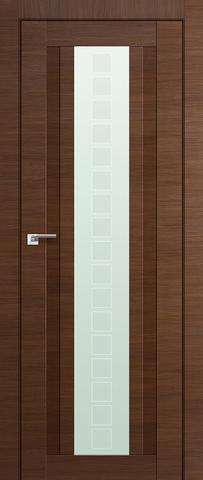 > Экошпон Profil Doors №16X-Модерн, стекло квадро, цвет малага черри кроскут, остекленная