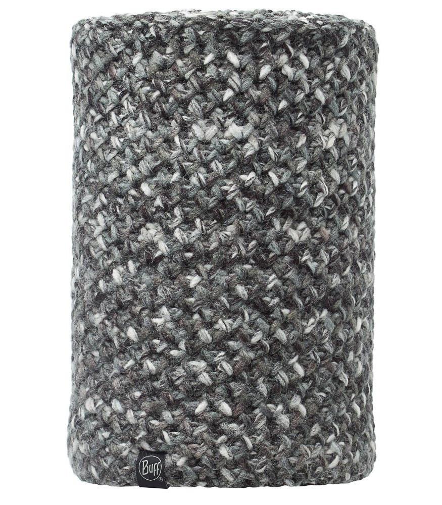 Вязаный шарф-труба с флисовой подкладкой Buff Margo Grey