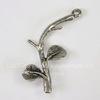"""Подвеска  """"Веточка маленькая"""" (цвет - античное серебро) 24х11 мм"""
