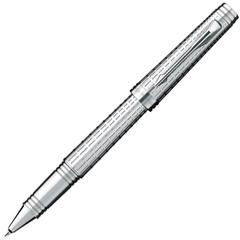 Ручка-роллер Parker Premier DeLuxe T562, цвет: Chiselling ST, S0887990