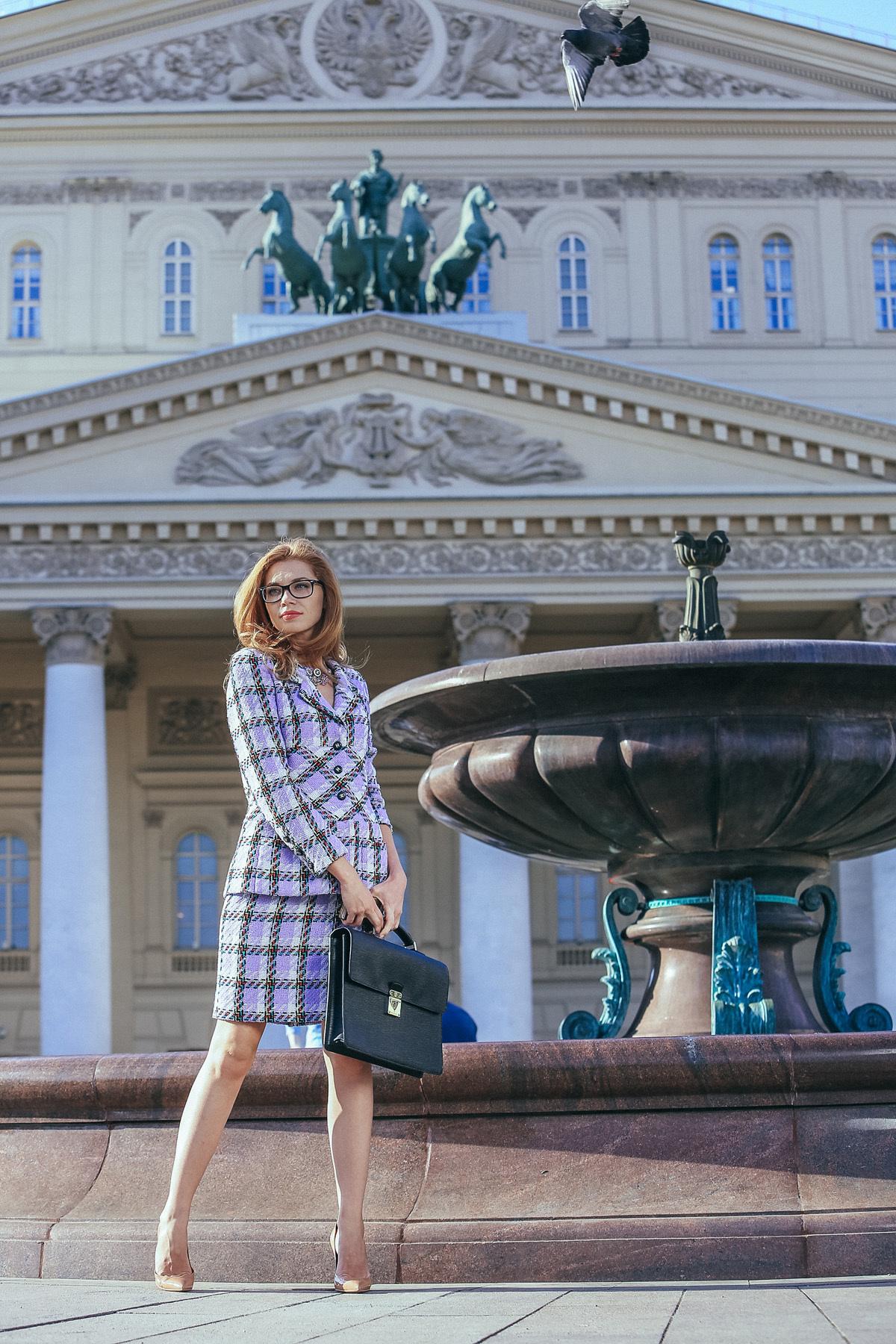 Твидовый костюм. Chanel  в крупную клетку, 38-40 размер