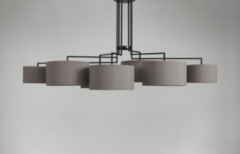 Chandelier Noon 7 by Zeitraum (grey)