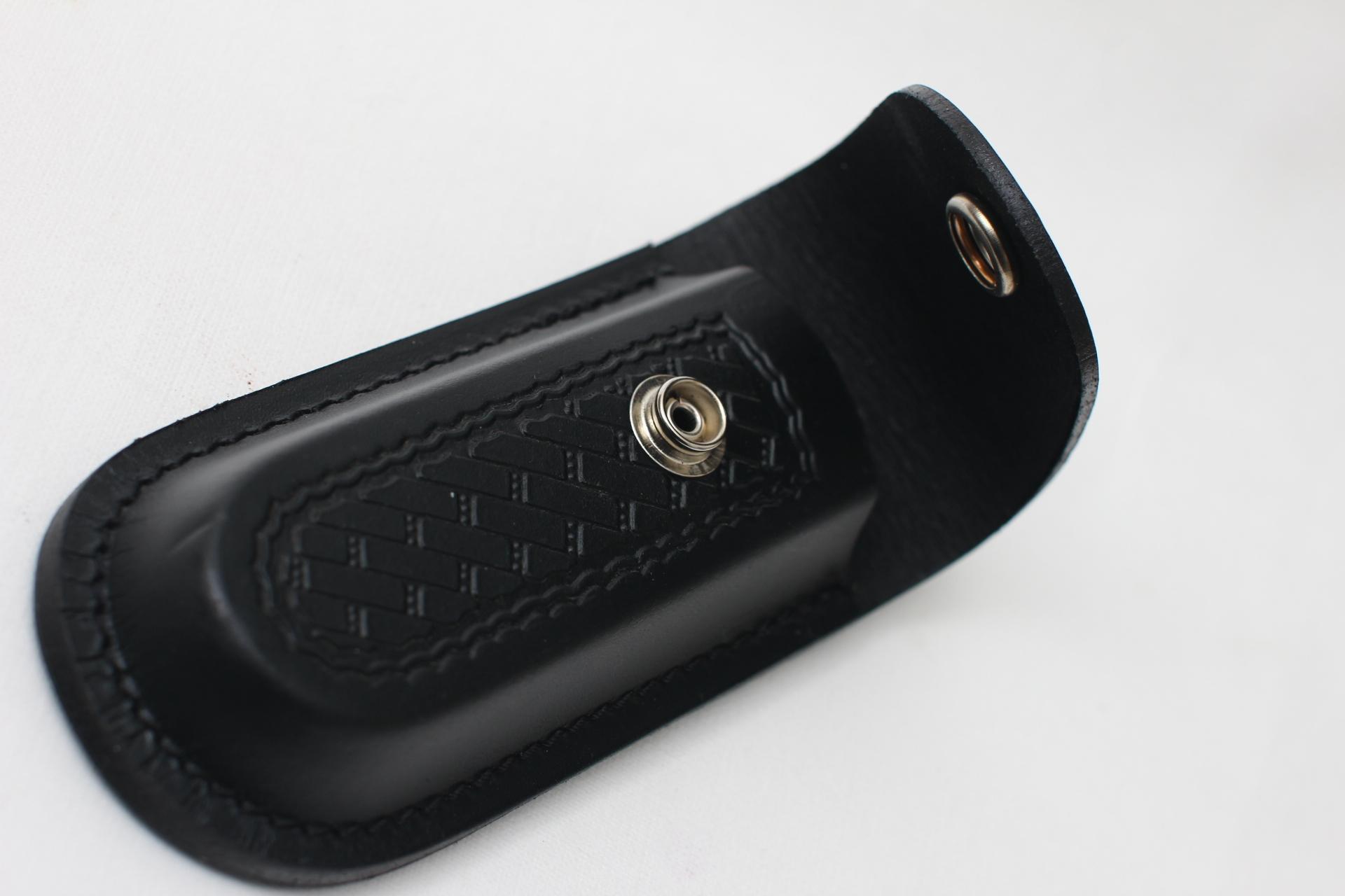 Чехол кожаный черный для ножа или мультитула
