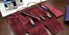 Футляр для ручек Pilot Pensemble (5 ручек+карман, бордовый)