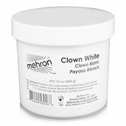 MEHRON Грим для клоуна экстра белый Clown White Extra Large, 480 г