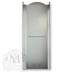 Душевая дверь Migliore Diadema ML.DDM-22.581.ST.CR 80xH195 см, стекло матовое/декор R (DX)