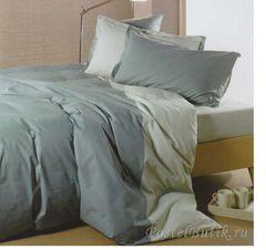 Постельное белье 2 спальное евро Caleffi Bicolor мокко