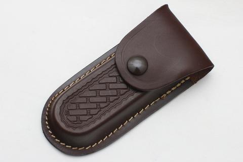 Чехол кожаный коричневый для ножа или мультитула
