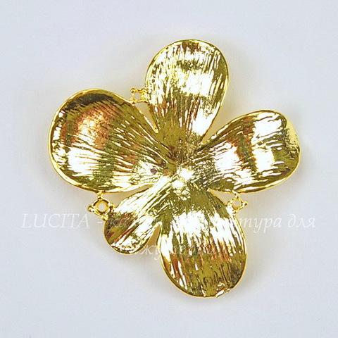 "Подвеска ""Цветок"" (цвет - золото) 30х30х4 мм"