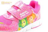 Светящиеся кроссовки для девочек Фиксики на липучках, цвет фуксия, мигает картинка сбоку. Изображение 13 из 15.