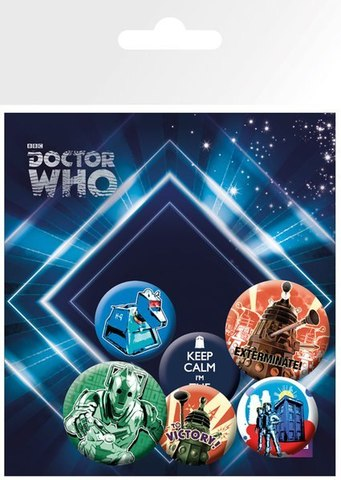 Набор значков Doctor Who