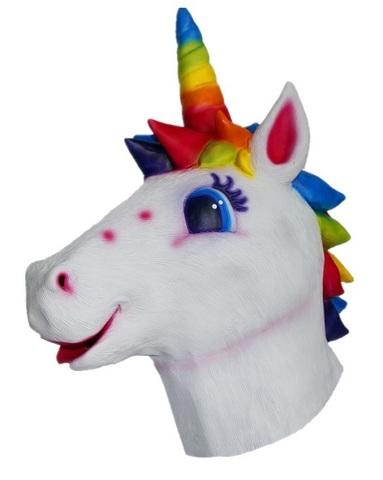 Радужный Единорог маска латексная