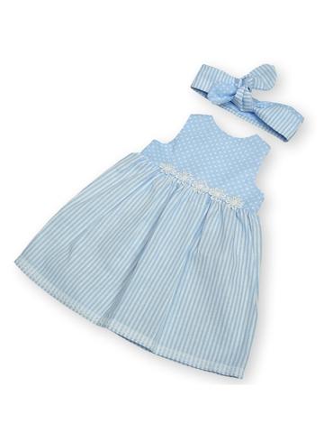 Платье летнее - Голубой. Одежда для кукол, пупсов и мягких игрушек.