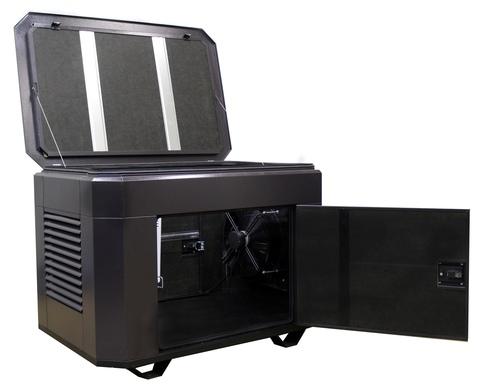 Всепогодный шумозащитный миниконтейнер для генератора, модель SB1200