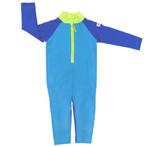 Детский плавательный костюм, plain blue/green, 74-80 см./ 6-12 мес.
