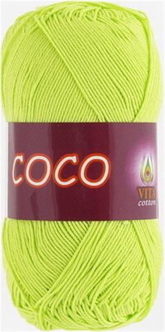Пряжа Coco (Vita cotton) 4309 Салатовый