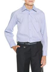616D-7 рубашка для мальчиков, голубая