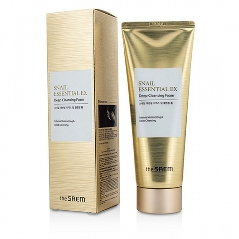THE SAEM Snail Essential EX Wrinkle Deep Cleansing Foam, 150ml