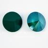 1122 Rivoli Ювелирные стразы Сваровски Crystal Royal Green (14 мм)