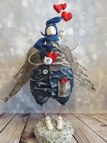 Интерьерная Кукла Зимний Ангел
