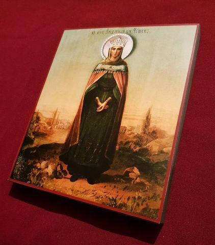 Икона святая Людмила Чешская на дереве на левкасе мастерская Иконный Дом